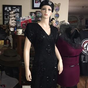 Stenay Vintage Silk sequins and beaded Mini Dress